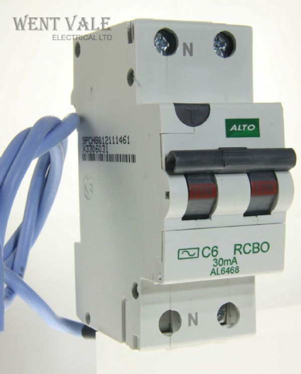 Alto AL6468 - 6a 30mA Type C Single Pole Switched Neutral AC RCBO Un-used